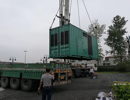 阿里淘宝造物节的3台发电机组供电